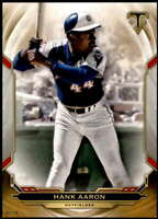 Hank Aaron 2019 Topps Triple Threads 5x7 Gold #76 /10 Braves