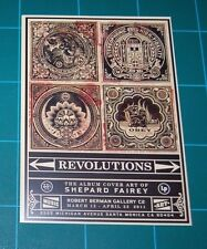 Shepard Fairey Obey Giant Revolutions Album Cover Mini Print Showcard 2012