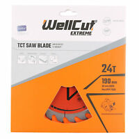 WellCut TCT Saw Blade 190mm x 24T x 30mm Bore Suitable For HS7601J, HS7100, 5704