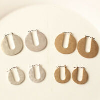 New TS Taking Shape Hoop Earrings Gift Fashion Women Jewelry 2Colors Chosen FS