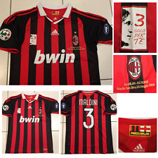 AC MILAN 2008 2009 PAOLO MALDINI FINALE MAI GIOCO match player-Issue Shirt di grandi dimensioni