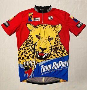 Giordana Tour Du Pont Cheetah Men Cycling Jersey 1/4 Zip Sz L Made In Italy