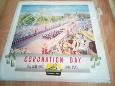 """Coronation day 2nd of June 1953/10"""" vinyl blp 1020 very good condition rare"""