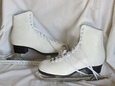 Ladies Figure Ice Skates CANSTAR Canada Lange Caprice White Size 10 1/3