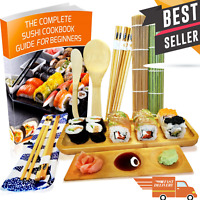 Sushi Making Kit Bamboo Rolling Mat Sushi Maker Set Gift for Beginners & eBook🍣