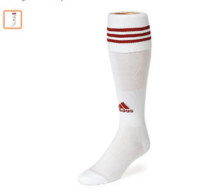 Adidas Copa Zone Cushion Soccer Sock-SZ Small red white Youth 13c-4Y Youth Small
