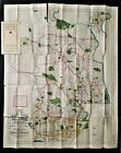 antique MAIN LINE and EASTERN DELAWARE COUNTY large MAP franklin survey