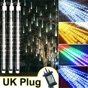 LED Meteor Shower Rain Lights 30/50CM Fairy String Light Xmas Tree Outdoor Decor