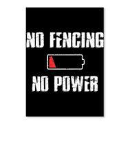 No Fencing Sticker - Portrait