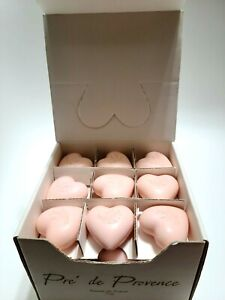 Pre de Provence FRENCH Shea Butter Enriched Guest Soap  heart - 1 Box of 36