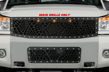 Custom TOP Grille MARINE CAMO +3 Amber Raptor Lights Kit for 08-14 Nissan Titan