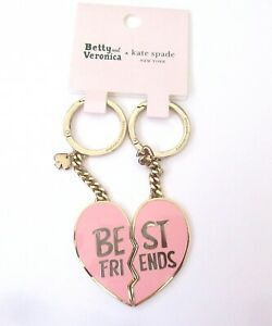 kate spade Betty and Veronica key fob/ring- Best Friends- 2 key rings- pink