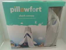 """Pillowfort Shark Canopy Fits Over Twin Bed or Play Area 100"""" x 180"""" - Pre Owned"""