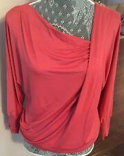 Women Viscose Jersey Loose Casual Long Sleeve Batwing T Shirt Tops Blouse Drape