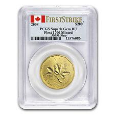 2008 Canada 1 oz Gold Maple Leaf .99999 Gem BU PCGS (FS) - SKU #75010