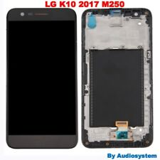 GLS DISPLAY +TOUCH SCREEN +COVER per LG K10 2017 M250 M250N FRAME NERO LCD VETRO