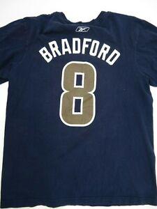 Los Angeles Rams Bradford #8 Football Reebok T-Shirt Size L