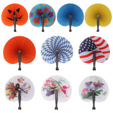 Hand Held Foldable Paper Fan For Children Themed Party Decoration Portable Fan