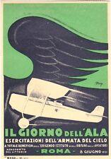 """TARGA VINTAGE """"IL GIORNO DELL' ALA 1930"""" Locandina Storica, POSTER, PUBBLICITA'"""