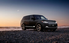 "NEW BLACK RANGE ROVER A4 CANVAS PRINT POSTER 11.7""x7.6"""