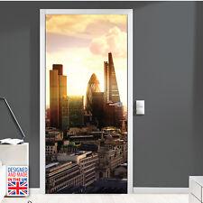 London amanecer Autoadhesivo Puerta Mural Adhesivo Para Oficina Cafe Decoraciones