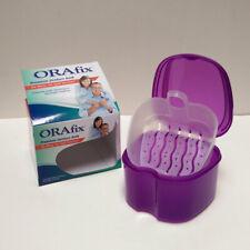 Orafix Denture Retainer Cleansing Bath Case with Filter Dental Denture Box PP