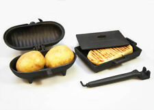 OFFER - Cast Iron Baked Potato Pod Oven & Panini Cooker Bacon Press for Stoves