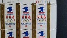 $1 Eagle & Olympic Rings*#2539*MNH*USPS Sponsor of 1992 Olympic Team*Sheet of 20