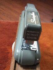 Vintage Swingline 27 Gray Stapler Advertising DETROIT EDISON Utilities ~ WORKS!