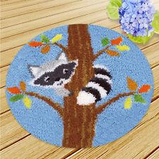 Raccoon Latch Hook Kits Latch Hooking Rug Kits Embroidery Kit Handicraft