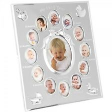 Baby My First Year 12 Month 13 Photo Silver Photo Frame Wall Hanging Shelf New