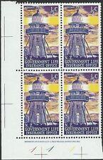 NEW ZEALAND 1969 Lighthouse ½c plate block # 1 1 1 MNH.....................50199