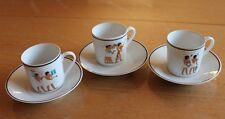 3 tasse et sous tasse l egypte antique tharaud  limoges france