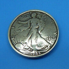 Johnleather Craft Walking Liberty Half-Dollar Coin Concho SRTP Finish 606310S