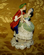 VINTAGE ADDERLEY *COQUETTE* COURTING COUPLE FIGURINE STAFFORDSHIRE LACE ENGLAND