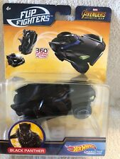 Hot Wheels MARVEL AVENGERS INFINITY WAR Flip Fighters BLACK PANTHER 1:43 NEW