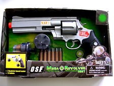 "NATO ® 12"" Toy Pistol gun Speed Load bullets Revolver sound Battery operated USA"