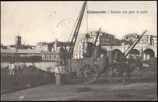 cartolina CIVITAVECCHIA scarico con grue al porto