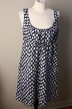 Patagonia 8 Hemp Cotton Drawstring Empire Waist Paint Stroke Dot Dress