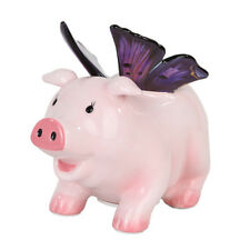 Butterfly Ceramic Piggy Bank.Pink Flying Pig Series. Money Saving. So Cute