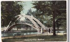 Suspension Bridge, Bedford PPC, Unposted, c 1920's, By Hartmann