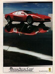 1991 Ferrari Testarossa Original Color Dealer Ad