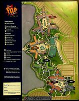 NEW 2021 Walt Disney World Pop Century Resort Map + 4 Theme Park Guide Maps