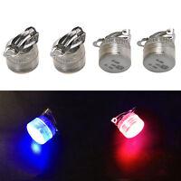 LED Orecchini Light Up Bling Ear Studs Blu Rosso Flash Accessori Unisex