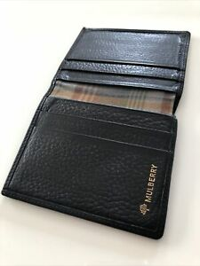 Mulberry Black Leather Bifold Wallet
