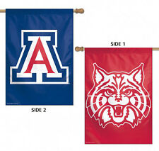 "University of Arizona Wildcats 2 Sided Vertical House Flag NCAA Licensed 28""x40"""