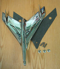 1956 CHEVY CHROME HOOD BIRD ORNAMENT with GASKET NEW Made in USA
