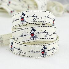 Free Shipping 5 Yards 5/8 (16mm) printed Disney grosgrain ribbon
