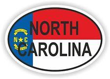 OVAL North Carolina STATE WITH FLAG USA STICKER AUTO MOTO TRUCK LAPTOP BIKE CAR