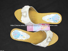 #TheBestSeller 50% OFF+FREE BAG! DISNEY PRINCESS WHITE SANDALS SHOES 32/6-8 YO